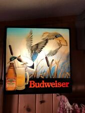 Budweiser Ducks in Flight Beer Sign / Vintage & Rare