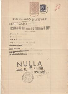 LIBYA , Document with  Revenue Stamp 1946