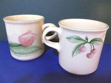 PFALTZGRAFF 2 Mugs / Cups GARDEN PARTY Cherries Pink Tulip