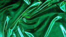 Dance Spandex stretch Metallic Lycra Kelly Green 4 way custom fabric 50 YARDS