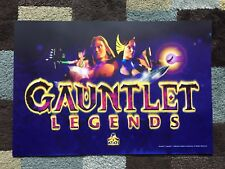 Gauntlet Legends Arcade Marquee Midway Atari Sign Translight Header