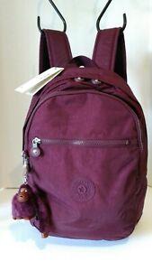 NWT Kipling Challenger Backpack, Dark Plum Tonal