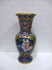 Superbe vase en cloisonné à décors  floraux