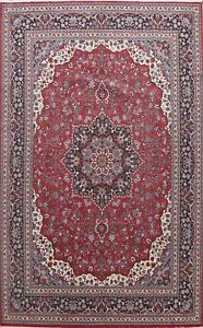 Floral Traditional Turkish Oriental Area Rug Medallion Red Large Carpet 10x13 ft