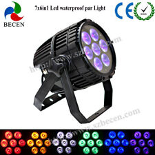 Waterproof led par light 7x18W RGBWA UV 6in1 outdoor led Par 64 light IP65