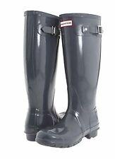 NIB Ladies HUNTER Original Tall Graphite Gloss Rain Boots - US 10 or EU 42
