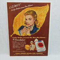 1948 LUCKY STRIKE CIGARETTES THE AMERICAN TOBACCO COMPANY ADVERTISEMENT