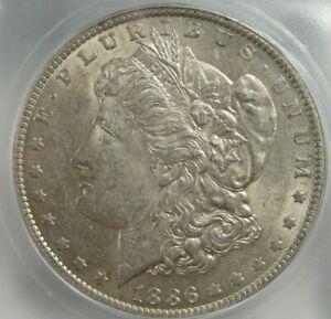 1886-O Morgan Silver Dollar Certified ICG AU 58