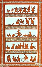 BEAUVILLE, ALSACE SILHOUETTES, CARAMEL, FRENCH KITCHEN / TEA TOWEL, NEW
