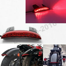 BRAKE TAIL LIGHT RED LED LICENSE PLATE MOTORCYCLE FOR BOBBER CAFE RACER CLUBMAN