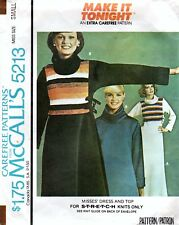 McCall's 5213 Dress & Top Vintage 70's Sewing Pattern Size Small 10-12
