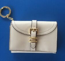 Gorgeous Ralph Lauren Mini Leather Wallet With Key Ring -Ivory