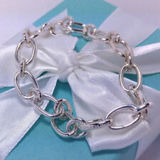 91f8f8ba1 Tiffany Co Oval Link Chain Clasping End Bracelet Medium 7.5 Sterling Silver  925