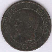 1853 W France Napoleon III 10 Centimes | European Coins | Pennies2Pounds