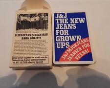 vintage Walt J&J Jeans  playing cards 54 card set