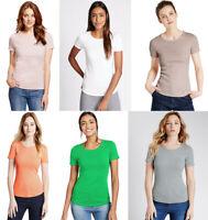 Marks & Spencer M&S Women Round Neck Short Sleeve Cotton T Shirt Top Tee 8-24