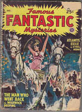 C1 FAMOUS FANTASTIC MYSTERIES 12 1947 SF Pulp FINLAY Deeping CONAN DOYLE Hume