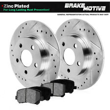 REAR DRILLED & SLOTTED BRAKE ROTORS AND METALLIC Pads For Audi TT VW Golf Jetta