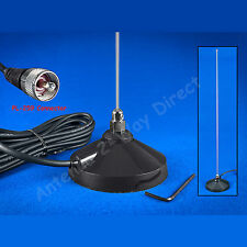 2 METER PRE-TUNED MAGNETIC MOUNT MOBILE ANTENNA PL-259