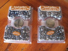Bead Gallery Pendant Kit 1/4 lb glass beads each. Lot of 2 kits  New