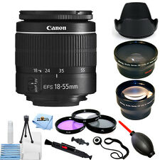 Canon EF-S 18-55mm f/3.5-5.6 III Camera Lens PRO BUNDLE BRAND NEW!!