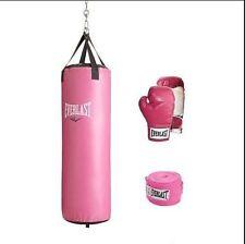 Everlast Heavy Bag Kit 70 lb Women's Punching Boxing Bag Gloves Hand Wraps New
