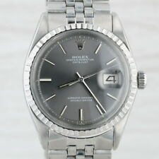 Rolex Oyster Datejust Watch - Stainless Steel Silver Face 1603 1971 Warranty