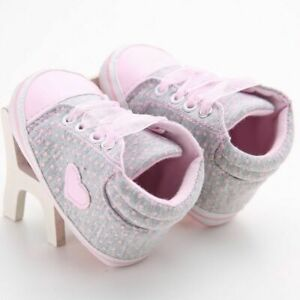 Baby Girl Boy Walking Shoes Newborn Soft Cotton Printed Letter Footwear