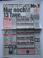 Bild Zeitung, Montag den 2.1.1991, Rudi Carrell, Jens Weißflog, Roland Kaiser