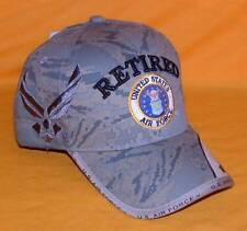 7e204aee932 US Air Force Retired New Digital Embroidered Military Licensed Ball Cap Hat.