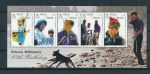 D120989 Prince William's 18th Birthday S/S MNH Isle of Man