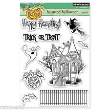 New Penny Black HAUNTED HALLOWEEN Clear Stamps Ghost Witch Pumpkin Bat House