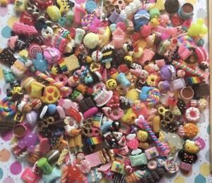 Assorted Kawaii Resin Sweet Cabochons, Polymer Clay Deco Slime Charms 60 pieces