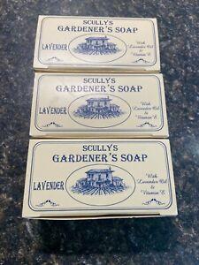 Scullys Gardener's soap Lavender Oil  & Vitamin E 3 Bars 140gm