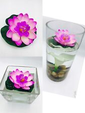 12pcs Floating Flower Foam Lotus Artificial Water Lily For Home And Party Decor