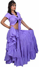 Wevez Cotton 25 Yard Tiered Gypsy Egypt Skirt Belly Dance *New*