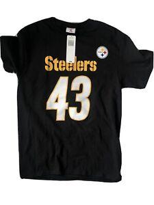 NFL Pittsburgh Steelers T-Shirt - TROY POLAMALU #43 ADULT MEDIUM
