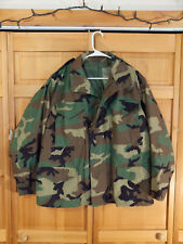 US Army M81 Woodland Camo M-65 Cold Weather Field Jacket, Size Large Short