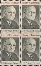 US 1499 Harry S Truman 8c block MNH 1973