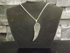 """10 Silver Plated 18"""" Necklaces with Large Angel Wing Pendant Wholesale Jewellery"""