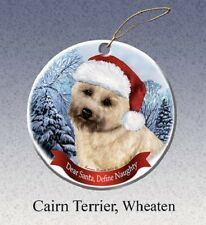 Define Naughty Ornament - Wheaten Cairn Terrier 060