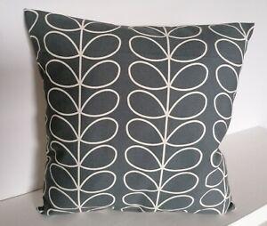 "18"" Cushion Cover Orla Kiely Linear Stem Cool Grey"