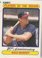 FREE SHIPPING-MINT-1990 Fleer Atlanta Braves #623 Dale Murphy PLUS BONUS CARDS