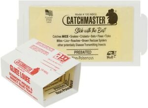 CATCHMASTER Pro Strength Mouse & Insect Sticky Glue Boards Trap-Catcher USA Made