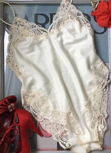 Victoria's Secret vintage ivory satin & lace teddie - all-in-one - size: Medium