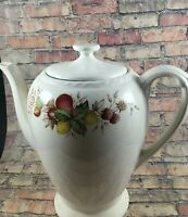 Vintage Crown Ducal 6 Cup Teapot Coffee Pot Marked FESTIVAL  Made In England Tea