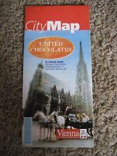 CITY MAP of Vienna, Austria, UNITED CHOCOLATES, Undated