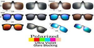 Clip On Sunglasses Polarized Glare Blocking Lens Flip Up Glasses UV Protection
