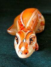 Lizard figurine stone carving SELENITE original handmade small statuette