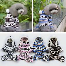 New Pets Dog Puppy Winter Warmer Sweater Hoodie Jumpsuit Coat Outwear 4 Colors B